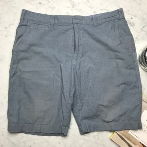 Gap Factory Blue Striped Flat Front 10 Inch Shorts